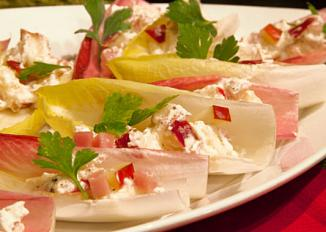 Endive Spears with Pears and Prosciutto