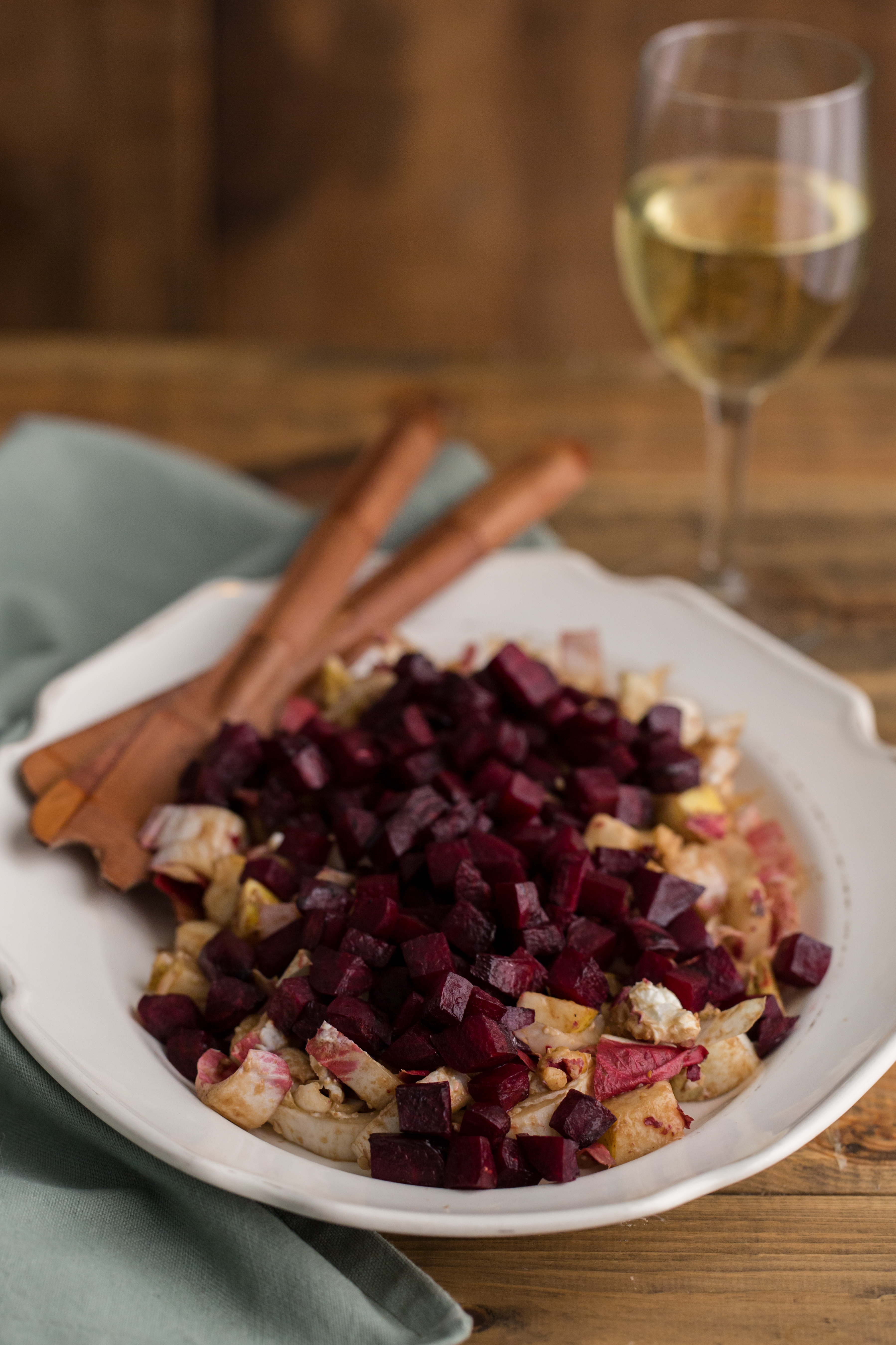 Endive Salad with Roasted Beets, Pears & Walnuts