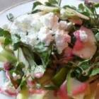 ... Endive and Watercress with Red Grapes, Blue Cheese and Almonds