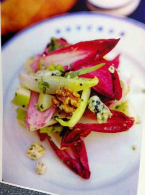 Endive Salad with Blue Cheese, Pears and Walnuts