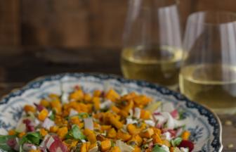 Endive, Butternut Squash and Goat Cheese Salad