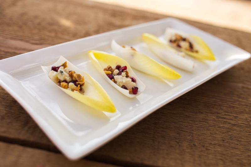 Pomegranates gorgonzola walnuts in endive california endive - Deseed pomegranate less one minute video ...